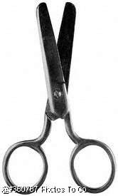 Blunt nosed scissors